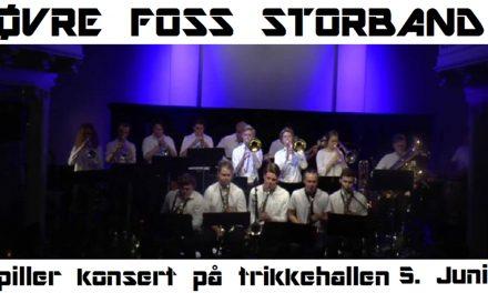 Konsert med Øvre Foss Storband