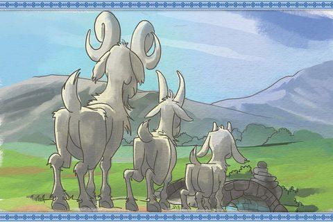 UTSOLGT: Bukkene Bruse og Den Vesle Kalven